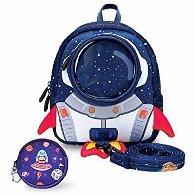 3D Kid Boy Toddler Backpack Waterproof Rocket With Safety Harness Leash  Travel 5f3629a4fa749