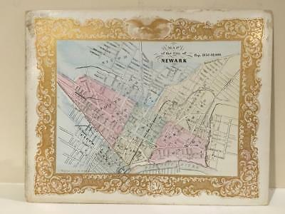 Map of the City of Newark New Jersey Charles Magnus 1853