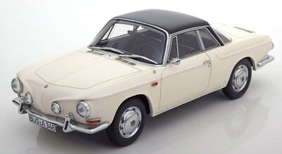 1961-1969 Volkswagen Karmann Ghia T34 White/Black by BoS Models LE of 504 1/18