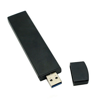 80mm NGFF M2 SSD to USB3.0 External PCBA Conveter Adapter Card  Disk Black Case