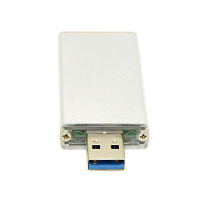 42mm NGFF M2 SSD to USB 3.0 External PCBA Conveter Adapter Card FlashType Silver