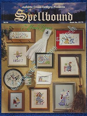 Cross Stitch Pattern Spellbound Fun Witty Wizard Dragon Alma Lynne 12 Designs