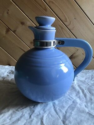 Vintage Vernon Kilns VERNONWARE Ball Pitcher JUG Bakelite Handle BLUE