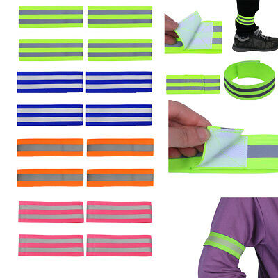 High Visibility Night Reflective Running Safety Belt Strap Arm Bands Belt Straps