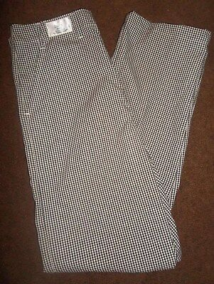 Chef  Pants - Size 32x28, 30x32, 30x34 - Checkered - Restaurant Cook Pants