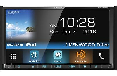 Kenwood DDX775BH DVD/CD Player Android iPhone Pandora Bluetooth HD Radio WebLink