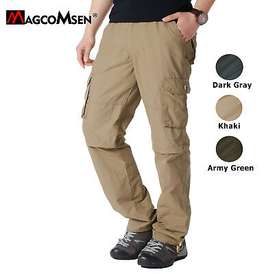 Mens Quick Dry Convertible Pants Shorts Lightweight Zip-Off Hiking Cargo Pants