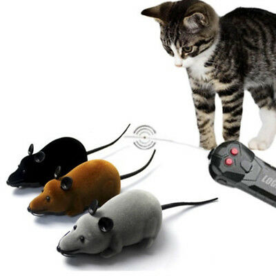Wireless Remote Control RC Electronic Rat Mouse Mice Toy For Cat Puppy Gifts