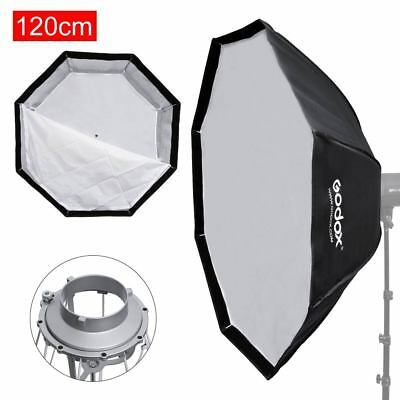 "Godox 47"" 120cm Octagon Umbrella Quick Setup Softbox Bowens Mount Flash Strobe"