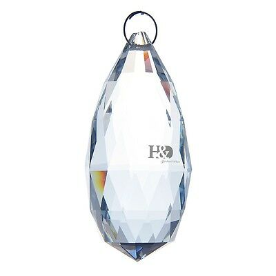 Large 90mm Clear Crystal Chandelier Prisms Drops Light Pendulum Bottom Pendant