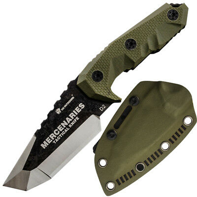 HX OUTDOORS fixed blade tactical survival knives with sheath