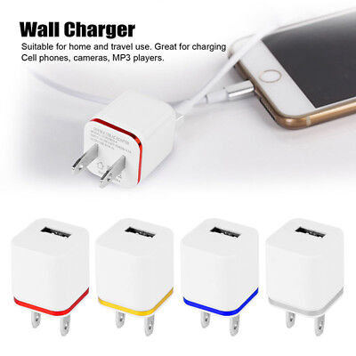1X Mini USB 1A 1 Port Wall Home Travel AC Charger Adapter US Plug For Cell Phone