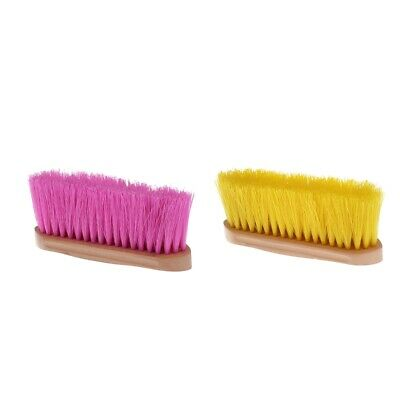 Horse Brush Mane Tail Comb with Wood Grip Equestrian Care Grooming Equipment