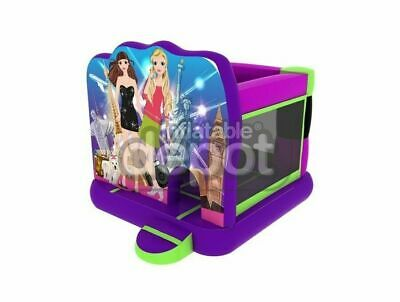Commercial grade inflatable jumping castle 3 x 3.8m. 1 year warranty. Girl theme
