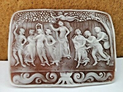 Loose Vintage Italian Hand-carved Roma Prince Family Cameo Pendant Jewelry Gifts