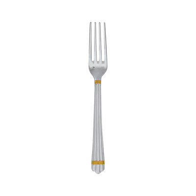 Christofle Silver Plated Aria Gold Dessert Fork 1022-015