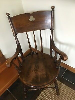 "Victorian Elm ""Penny"" Large Seated Arm Chair."