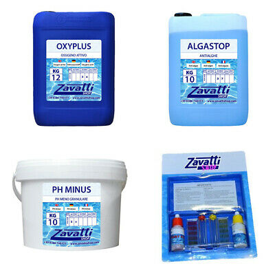 Kit 30 Kg No-Klor productos químicos piscina