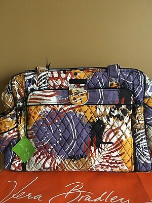 NWT Vera Bradley Painted Feathe Stroll Around Baby Bag Diaper bag & Changing Pad
