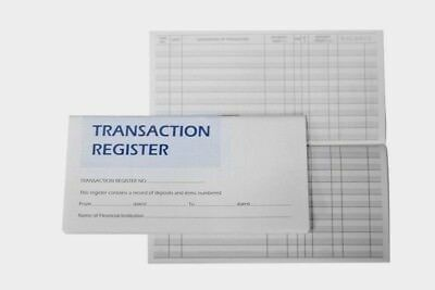 1 10 Checkbook Transaction Registers Easy To  Read  Calendar 2018 2019 2020