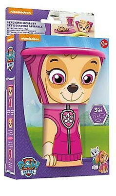 Children's Girl's Paw Patrol Skye Stacking Meal Set