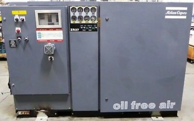 Atlas Copco ZR37 Oil Free Rotary Screw Air Compressor Water Cooled 50Hp Tooth
