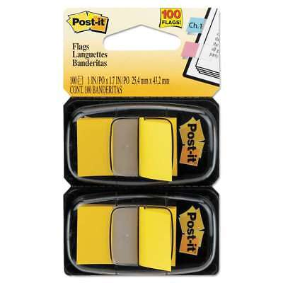 Post-it® Flags Standard Page Flags in Dispenser, Yellow, 100 Flag 021200690907