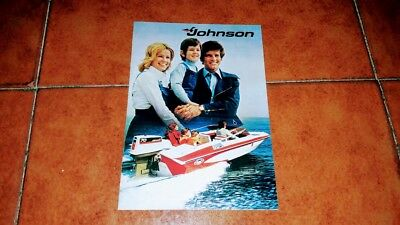 Brochure Catalogo Advertisement Johnson Motore Motori Barca Yacht Nautica 1974