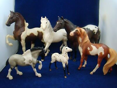Breyer Horse Lot - 6 Total - Five Gaiter, Lady Phase, Sham, Mesteno, Clydesdale
