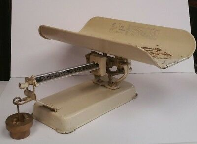 Vintage Detecto Baby Scale, Beam-Type Jacobs Bros. N.Y. With Weight and Graphics