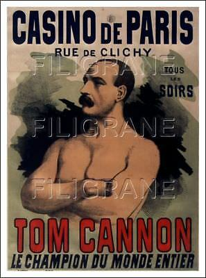 POSTER/REPRINT A3/30x42cm d'1 AFFICHE ANCIENNE CASINO de PARIS Tom CANNON