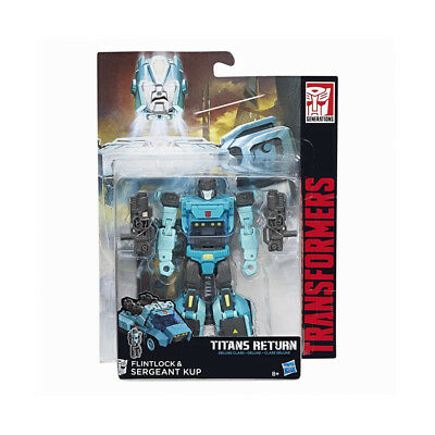 Transformers Generations Titans Return Flintlock And & Sergeant Kup Deluxe Class