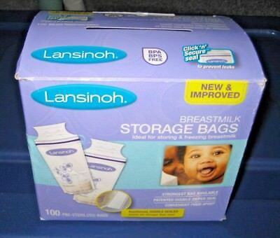 Lansinoh Breastmilk Storage Bags - 100 Pre-Sterilized Bags