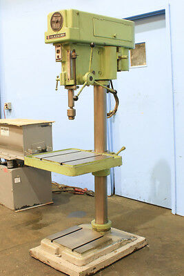 """20"""" Swg 1.5HP Spdl Clausing 20 Step-Pulley DRILL PRESS, #3MT, T-Slotted Tbl & Ba"""