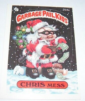 Garbage Pail Kids Chris Mess 1987 Topps Trading Card 254a
