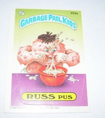 Garbage Pail Kids Russ Puss 1987 Topps Trading Card 253a