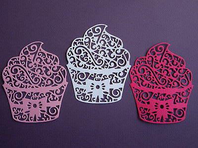 Cupcake Paper Die Cuts x 8 Birthday Party Scrapbooking Embellishment - Not a Die