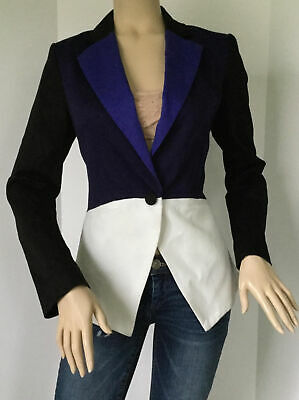8872f660e49 PETER PILOTTO FOR Target Colorblock Jacket in Black/White & Blue (Size S)