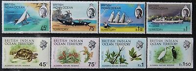 British Indian Ocean Territory: #35-42 Mnh. $26.75 Cv.