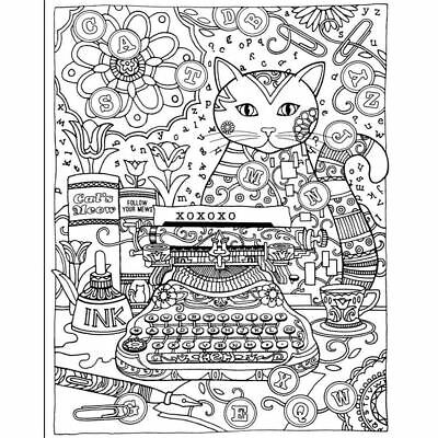 Cartoon Creative Haven Creative Cats Colouring Book Stress Reliever Books Gifts