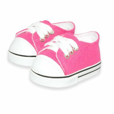 Doll Clothes Pink Sneakers Shoes Fits American Girl & Other 18 Inch Dolls