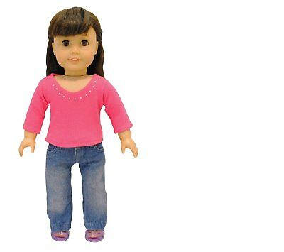Doll Clothes Fashion Jeans Set Outfit  Fits American Girl & Other 18 Inch Dolls