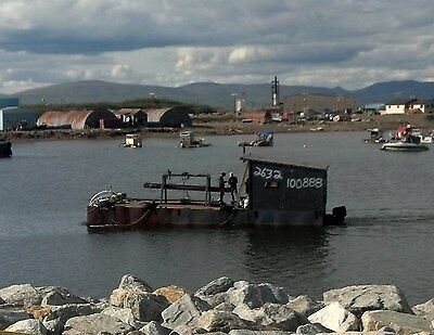 40ft x 14ft Steel Barge for Gold Dredge Nome - Bering Sea Gold