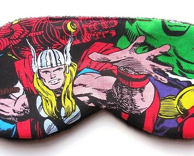 Thor Sleep Mask Marvel Comics Avengers PJ Eye Shade Cover Superhero Boy Kid Man