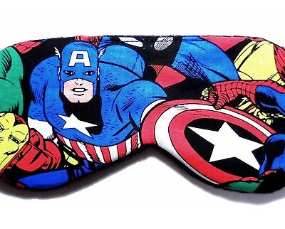 Superhero Captain America Sleep Mask Marvel Comics Blindfold Eye Shade Boy Kid