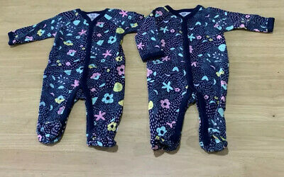 Baby Girls size 000  sleepsuit all in one Navy Floral coverall NEW Target Cotton