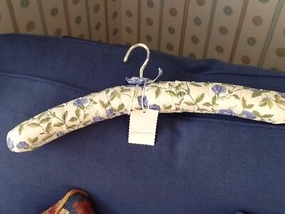 Vintage coat hanger Laura Ashley fabric covered padded Sweet pea Fabric NWT