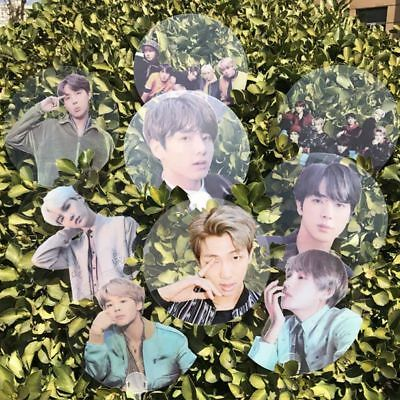 Kpop Transparent Fan BTS Bangtan Boys Mini Hand-held Fan Portable Fans Gift