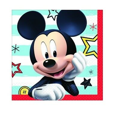 Party Supplies Birthday Decorations Mickey Mouse On The Go Sml Napkins Pk 16