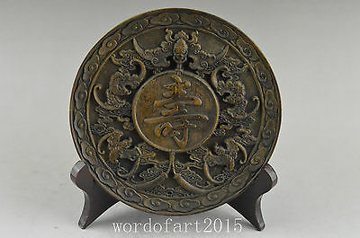China collectable old alabaster handwork carved 寿 Auspicious noble statue